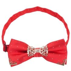 Chic Men Suit Metal Decorated Bow Tie Business Accessories - T58 (Red)