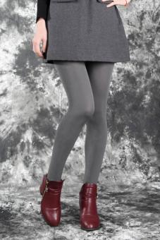 Cityhome tebal musim dingin yang hangat wanita langsing peregangan Legging (Kelabu) - International