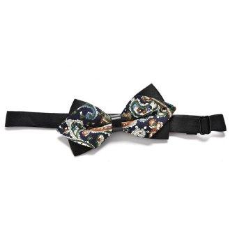 Classic Fashion Novelty Mens Adjustable Tuxedo Bowtie Wedding Bow Tie Necktie P30-Brown Cashew - Intl
