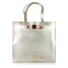 Classic Ted Baker Women's Handbag Waterproof Shopping Bag(silvery)