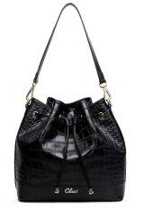 CLUCI Women's Classic Leisure Soft Leather Handbag Cross-body Shoulder Bag Black