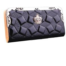 Clutch Leather Long Handbag Lady's Wallet Coin Purse Card Holder Black