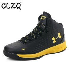 CLZQ 2017 New High To Help Basketball Shoes Men Outdoor Stadium Breathable Light Sports Shoes-Black - intl