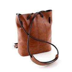 Cocotina gadis wanita kulit PU Vintage selempang tas kurir rumbai dudukan telepon tas