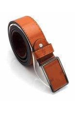 Cocotina Vintage Man's Waistband Faux Leather Buckle Belt Waist Strap Belt – Brown
