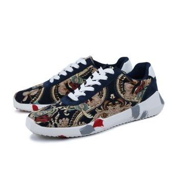 Comfortable Breathable Casual Shoes Men Super Light Sport Shoes (Blue)