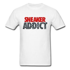 CONLEGO Creative Men's Sneaker Addict Text Cement T-Shirts White