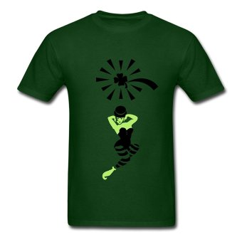 CONLEGO Customize Men's Lucky Comet T-Shirts Forest Green