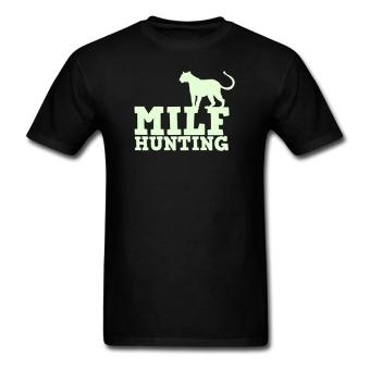 CONLEGO Fashion Men's Milf Hunting With Cougar T-Shirts Black
