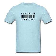 CONLEGO Funny Cotton Men's Made In Jersey City T-Shirts Sky Blue