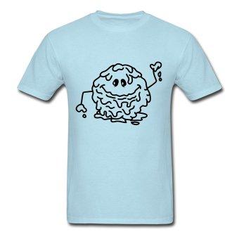 CONLEGO Personalize Men's Schleimkugel Monster T-Shirts Sky Blue - Intl