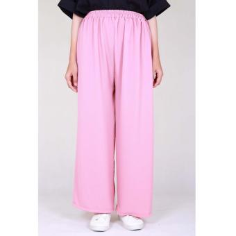 Cotton Bee Pallazo Cullote Pants - Dusty Pink