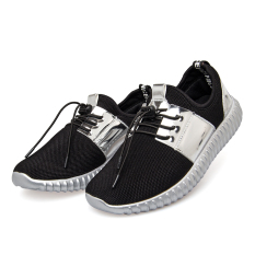 Couple Air Mesh Glossy Gold Men&women Casual Shoes Summer Fashion Breathable Durable Outdoor Lace-Up (Silver) - Intl