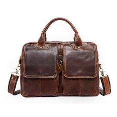 Cowhide Genuine Leather Men Bags Mens Messenger Shoulder Bag Leather Bag Men Fashion Crossbody Men's Briefcase Laptop Bags 2016 - Intl