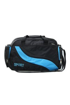 CTO Unisex Holdall Gym Sport Luggage Travel Shoulder Bag Overnight Outdoor Blue IN