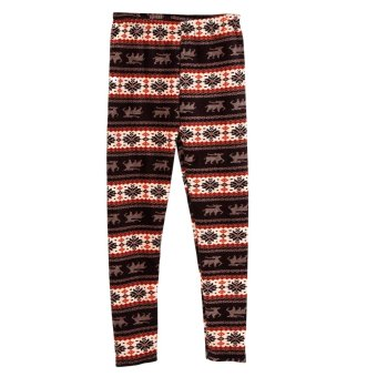Cyber ACEVOG New Fashion Lady Women Thicken SnowFlake Reindeer Print Warm Leggings