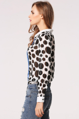 Cyber Chiffon Women Lapel T Shirt (Multicolor)