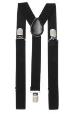 Sunweb Clip-on Adjustable Unisex Pants Y-back Suspender Braces Black Elastic Black (Intl)