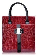 Cyber Europe Luxury OL Ladies Pattern Big Handbag Tote Shoulder Bag (Red)