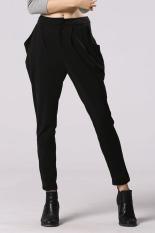 Cyber Fashion Lady Women's Stretch Casual Harem Pants Loose Trouser (Black) (Intl)
