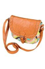 Cyber Fashion Retro Women Canvas Adjustable Strap Geometric Animal Print Small Cross-Body Bags Handbag (Multicolor)