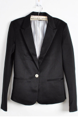 Cyber Fashion Women Candy Color Basic Coat Slim Blazer Black