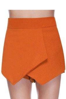 Cyber Korea Style Women's Pants Casual Slim Skinny Skirt Pant Shorts ( Orange )