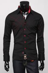 Cyber Long Sleeve Mens Casual T Shirt (Black)