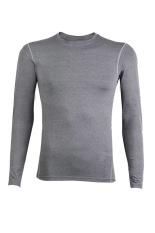 Sunweb Men'S Long Sleeve T-Shirts Casual Sports Sweatshirt T-Shirts (Grey)