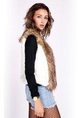 Sunweb Winter Women Faux Fur Vest Sleeveless Lapel Outerwear Jacket Coat Hair Waistcoat White (Intl)