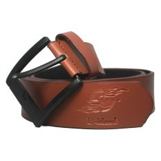 D-Island Belts Leather Brown Classic Pin Buckle Belt