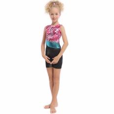 DAXIANG 3-15Y Girls Bllet Tutu Patchwork Ribbon Professional Ballet Gymnastic Leotard - intl
