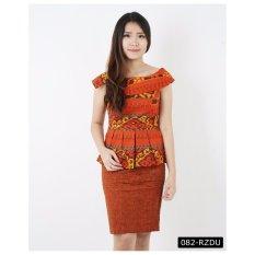 De Voile Batik Fashion Wanita Modern Sabrina Wally UP (Brown)