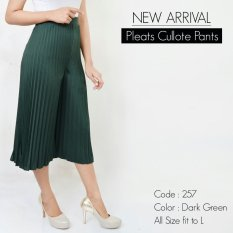 De'Links Plisket Cullot Pants BCPD18104 (Green Army)