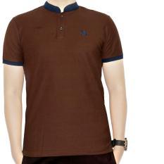Dgm_Fashion1 Shirt Polo Men Kerah Sanghai / Polo Six / Kaos Kerah / Polo Monkl / Polo Pria / Kaos Polo / Polo Kaos SX 4256 Coklat Dan Navy