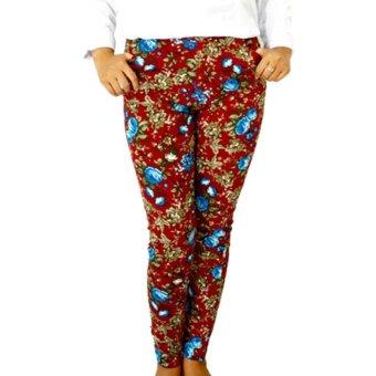 Harga Difash Celana Legging Motif Bunga Merah Pricenia Com