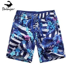 Diotem Palager Fashion Men's Swimmear Shorts Colorful Summer Pants Blue - intl