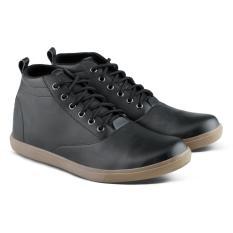 Distro Bandung VDB 061 Sepatu Boot Casual Pria bisa untuk kerja kantor formal - Hitam