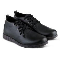 Distro Bandung VR 065 Sepatu Formal Casual Pria Kulit Sintetis - Hitam