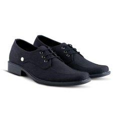 Distro VD 377 Sepatu Formal Pantofel Pria Kerja Kantor - Hitam
