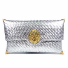 Djogja klasik Craft Clutch Anyaman Pandan Exclusive Medium - Silver