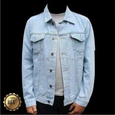 DnR Jaket Jeans Denim Pria - Light Blue