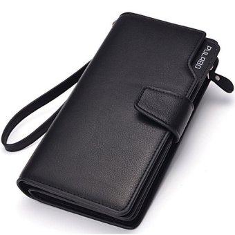 Dompet Pria Business Men PU Leather Clutch Wallet Handbag Long Purse Zipper Credit Cards Mobile Phone