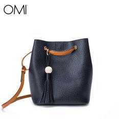 Drawstring Bucket Bag OMI Pu Leather Shoulder Bag Set Crossbody Bag Handbags For Women - Intl
