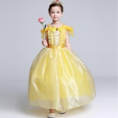 Dress Baju Kostum Anak Gaun Princess Belle (Beauty & The Beast)