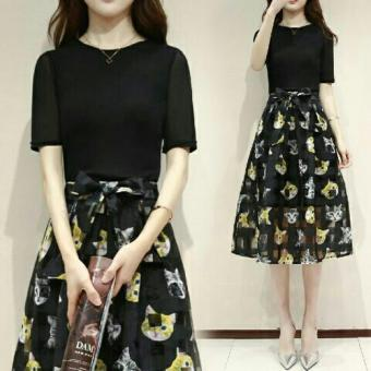 369 Mini Catty Dress Hitam Toko Online Terbaik Source · Dress Catty Thelma Odt Black
