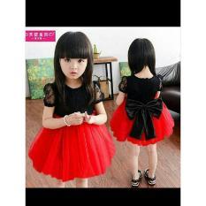 Dress Ribbon Merah Anak Perempuan 3-5thn. Zero One Store