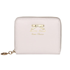 Durable Womens Fashion Mini Faux Leather Lady Purse Wallet Card Holders Handbag White