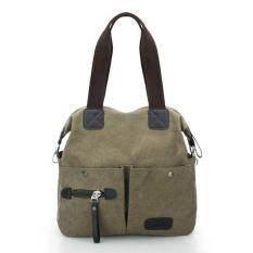 Ekphero Men Women Pillow Vintage Canvas Bag Shoulder Messenger Handbag (Pink) - Intl