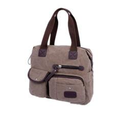 Ekphero Men Women Vintage Canvas Bag Shoulder Messenger Handbag (Black) - Intl
